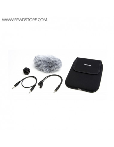 Tascam - AK-DR11C Accessory Kit DR-Series incl.SoftCase,WS-11,ShoeMount Adapter,Attenuater and Splitter Cable
