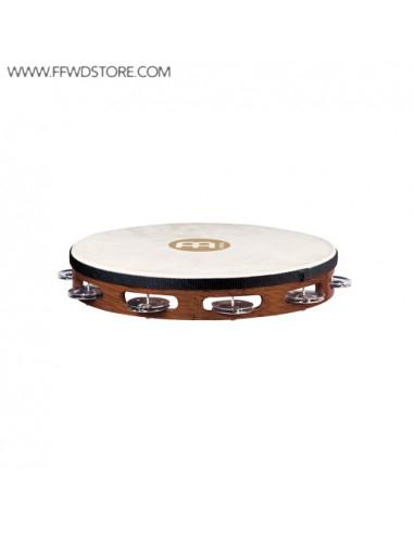 Meinl,Traditional Goat-Skin Wood Tambourines,Steel Jingles