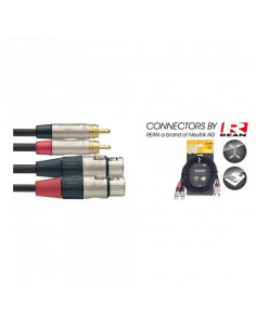 Stagg - Ntc3cmxmr 3m Cable Bretelle Rcam-Xlrm Dl