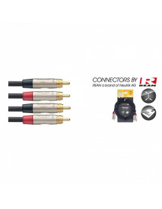 Stagg - Ntc3cr 3m Cable Bretelle Rcam-Rcam Dl