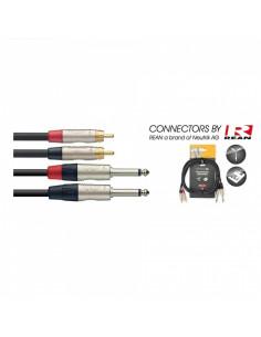 Stagg - Ntc6pcmr 6m Cable Bretelle Jckm-Rcam D