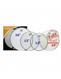 "Remo - Propack (12"", 13"", 16"" Emperor Clear + Free 14"" Ba-0114-00)"