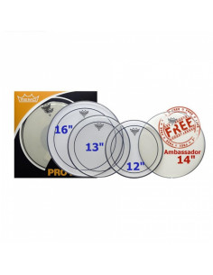 "Remo - Propack (12"", 13"", 16"" Pinstripe Clear + Free 14"" Ba-0114-00)"