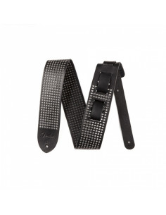 "Fender -  2.5"" Leather Small Rivets Strap, Black"