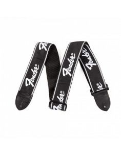 Fender -  Running Logo Strap, Black