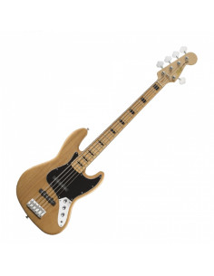 Squier - Vintage Modified Jazz Bass V, Maple Fingerboard, Natural