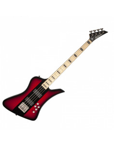 Jackson - David Ellefson Kelly Bird IV, Maple Fingerboard, Red Burst with Black Center-Stripe