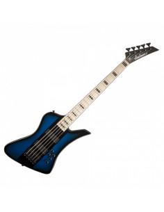 Jackson - David Ellefson Kelly Bird V, Maple Fingerboard, Blue Burst with Black Center-Stripe
