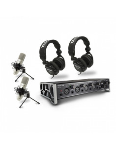Tascam - US-4X4TP Trackpack 4x4 : 1 x US-4X4 + ea. 2 x TH-02/TM-80