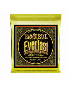 Ernie Ball - 2556 Everlast Medium Light Coated 80/20 Bronze Acoustic Guitar Strings