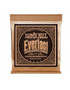 Ernie Ball - 2546 Everlast Medium Light Coated Phosphor Bronze Acoustic Guitar Strings