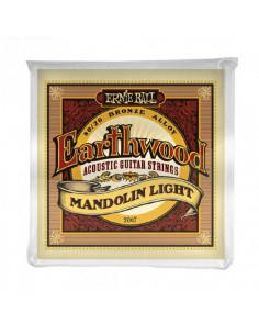 Ernie Ball - 2067 Earthwood Mandolin Light Loop End 80/20 Bronze Acoustic Guitar Strings