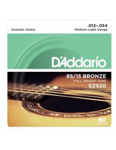 D'addario - EZ920 Medium Light 12-16-25-34-44-54