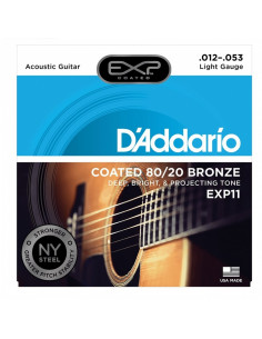 D'addario - EXP11 Coated 80/20 Bronze, Light, 12-53