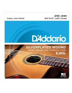 D'addario - EJ83L Gypsy Jazz, Ball End, Light, 10-44