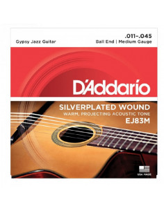 D'addario - EJ83M Gypsy Jazz, Ball End, Medium, 11-45