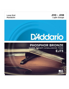 D'addario - EJ73 Mandolin Strings, Phosphor Bronze, Light, 10-38