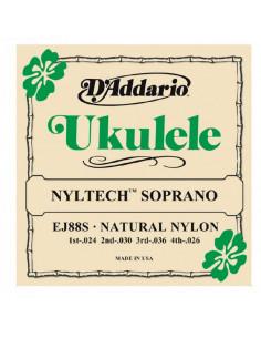 D'addario - EJ88S Nyltech Ukulele, Soprano