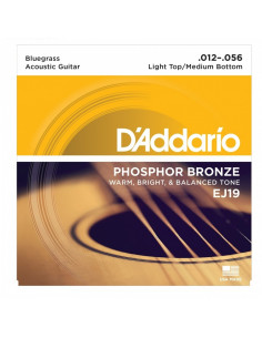 D'addario - EJ19 Phosphor Bronze, Bluegrass, 12-56
