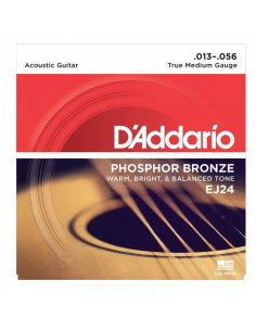 D'addario - EJ24 Phosphor Bronze, True Medium, 13-56