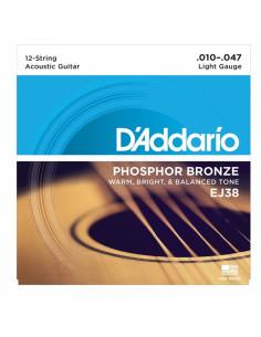 D'addario - EJ38 12-String Phosphor Bronze, Light, 10-47