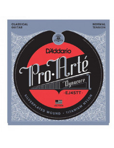 D'addario - EJ45TT Pro-Arté Dynacore, Titanium Trebles, Normal Tension