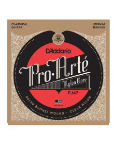 D'addario - EJ47 80/20 Bronze Pro-Arté Nylon, Normal Tension