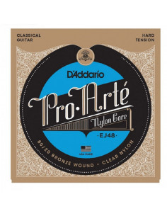 D'addario - EJ48 80/20 Bronze Pro-Arté Nylon, Hard Tension