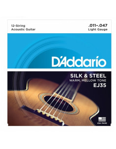 D'addario - EJ35 Silk & Steel 12-String Folk, 11-47