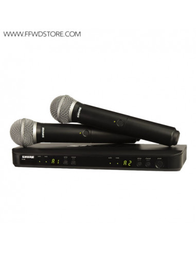 Shure - Blx288e/Pg58 Dual Channel Handheld Wireless System