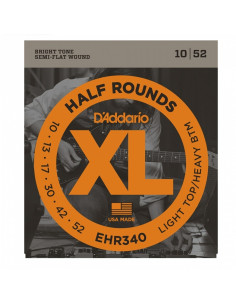 D'addario - EHR340 Half Rounds, Light Top/Heavy Bottom, 10-52