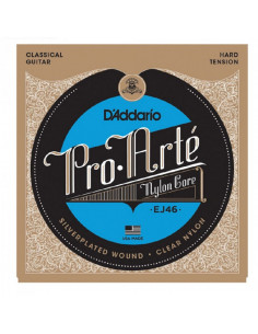 D'addario - EJ46 Pro-Arté Nylon, Hard Tension  - Pack 3