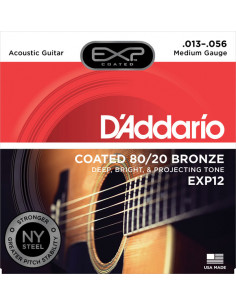D'addario - EXP12 Coated 80/20 Bronze, Medium, 13-56
