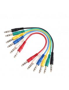 Adam Hall - K3BVV0030SET - Set Câbles de Patch Jack 6 cables 6,35 mm TRS stéréo vers Jack 6,35 mm TRS stéréo 0,3 m