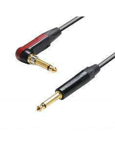 Adam Hall - K5IRP0600SP - Câble Instrument Neutrik silentPLUG Jack coudé 6,35 mm mono vers Jack 6,35 mm mono 6 m
