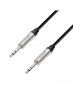 Adam Hall - K5BVV0150 - Câble de Patch Neutrik Jack 6,35 mm TRS stéréo vers Jack 6,35 mm TRS stéréo 1,5 m