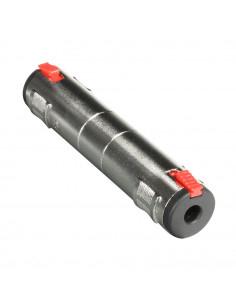 Adam Hall - 7879 - Adaptateur Jack 6,35 mm stéréo femelle vers Jack 6,35 mm stéréo femelle verrouillable
