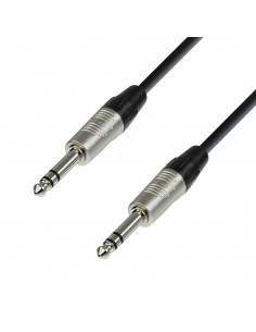 Adam Hall - K4BVV0600 - Câble de Patch REAN Jack 6,35 mm TRS stéréo vers Jack 6,35 mm TRS stéréo 6 m