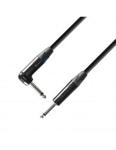 Adam Hall - K5IRP0300 - Câble Instrument Neutrik Jack 6,35 mm mono vers Jack 6,35 mm mono coudé 3 m