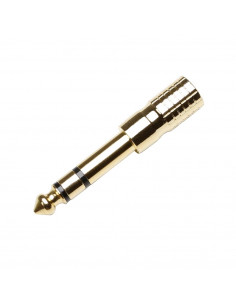 Adam Hall - 7543G - Adaptateur Jack 3,5 mm stéréo femelle vers Jack 6,35 mm stéréo mâle plaqué or