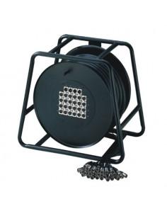 Adam Hall - Cables K 20 C 30 D - Câble multipaire sur enrouleur avec boîtier de scène 16/4 30 m