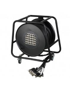 Adam Hall - Cables K 20 C 50 D - Câble multipaire sur enrouleur avec boîtier de scène 16/4 50 m