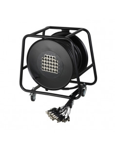 Adam Hall - K28C30D - Câble Multipaire sur Enrouleur avec Boîtier de Scène 24/4 30 m