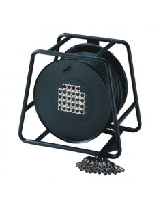 Adam Hall - K28C50D - Câble multipaire sur enrouleur avec boîtier de scène 24/4 50 m