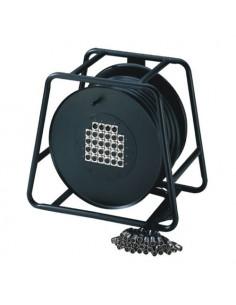Adam Hall - Cables K 28 C 50 D - Câble multipaire sur enrouleur avec boîtier de scène 24/4 50 m