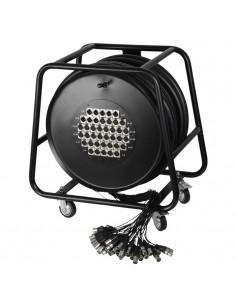 Adam Hall - K40C50D - Câble multipaire sur enrouleur avec boîtier de scène 32/8 50 m