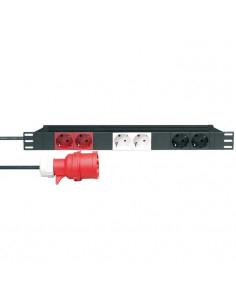 """Adam Hall - 87473 - Distributeur secteur 6 prises 3 circuits séparés rackable 19"""""""