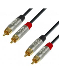 Adam Hall - K4TCC0060 - Câble Audio REAN 2 x RCA mâle vers 2 x RCA mâle 0,6 m