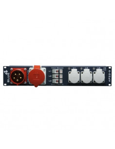 "Adam Hall - 87480 - Multiprise secteur Schuko 9 prises rackable 19"", 2U"