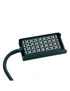 Adam Hall - K28C50 - Câble Multipaire avec Boîtier de Scène 24/4 50 m